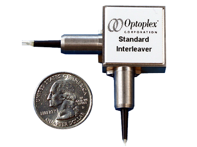 Optoplex Compact Mux/Demux Co-Packaged Interleaver Device